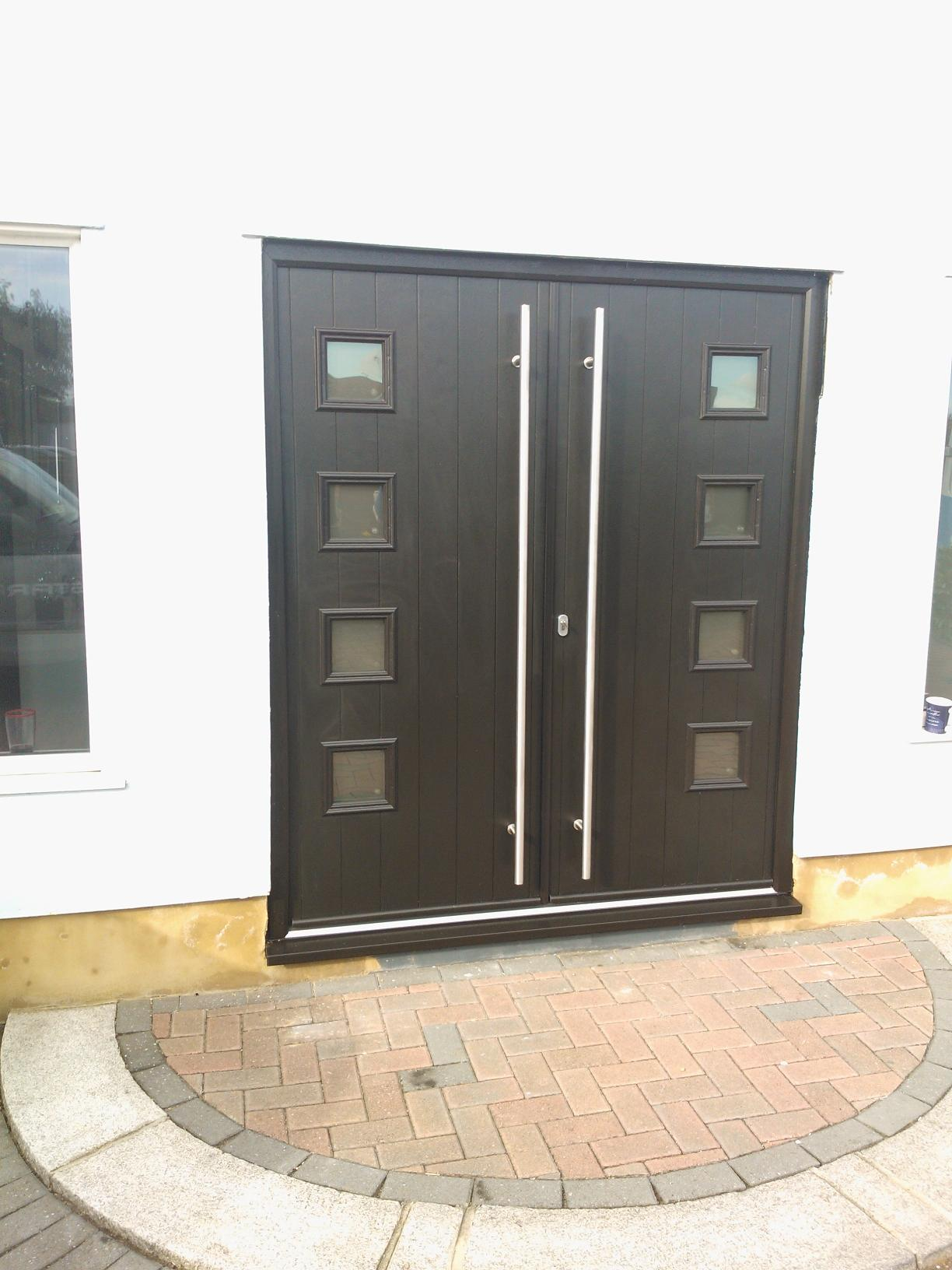 Solidor Milano Double Doors In Anthracite Grey Timber