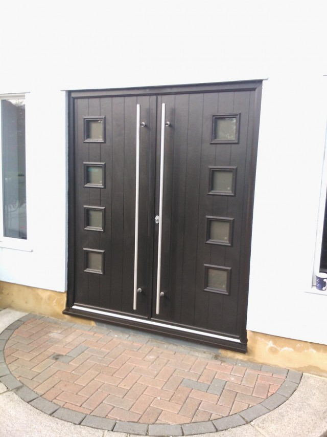 Stunning Double Italia Milano Doors in Anthracite Grey with Designer Handles