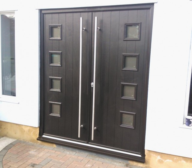Milano Double Timber Composite Doors \u2013 Our Door of the Day & Solidor Italia Double Milano Doors in Anthracite Grey | Timber ...