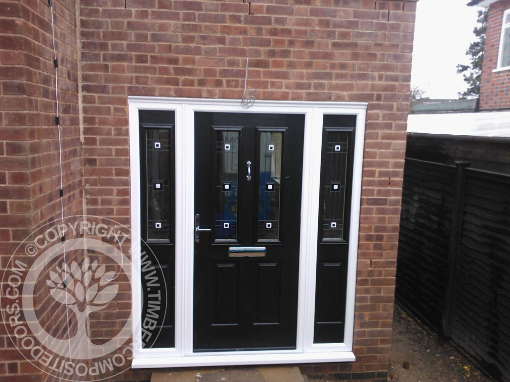 Tenby Solidor Composite Door by Timber Composite Doors in Black