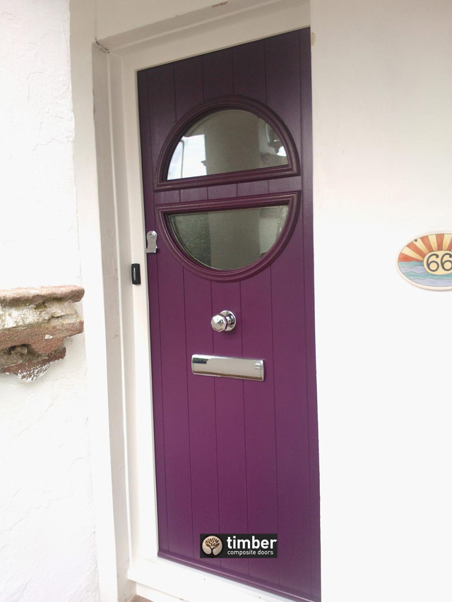 Aubergine Pisa Italia Collection from Timber Composite Doors