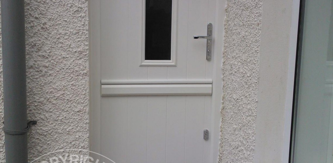 Solidor Ancona Stable Timber Composite Door in White