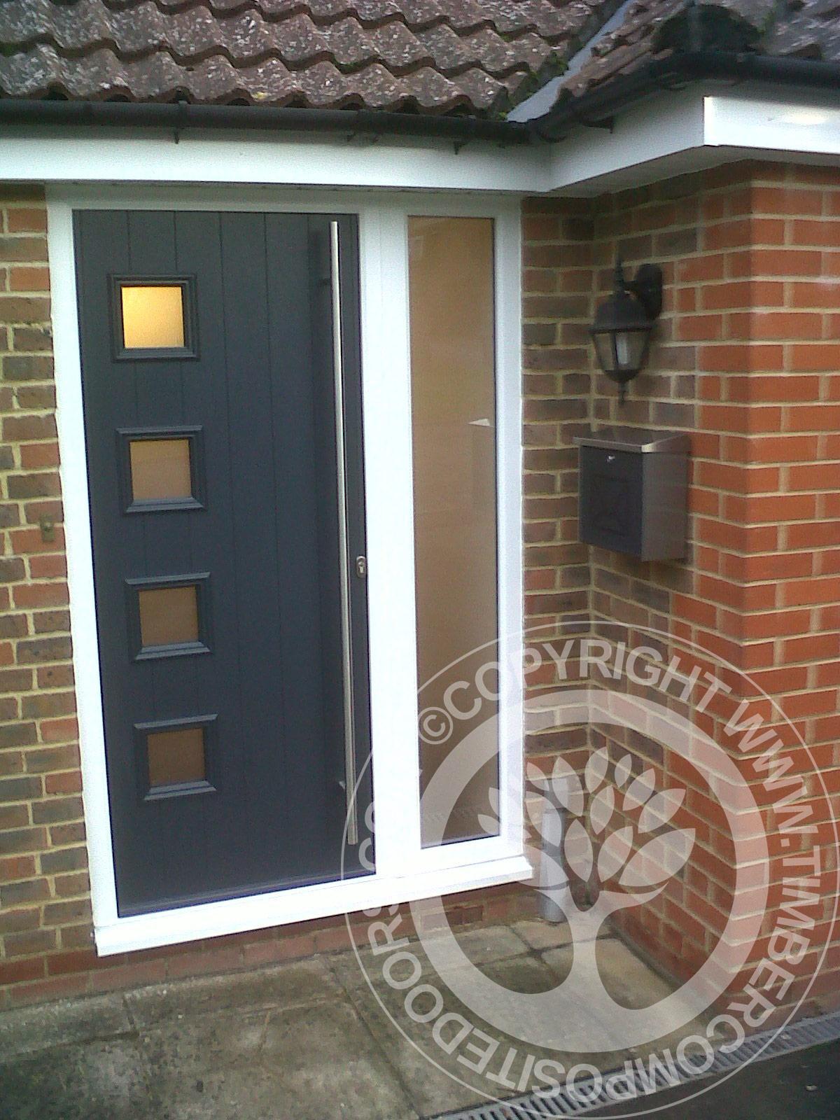 Solidor milano italia composite door in anthracite grey for Composite exterior doors