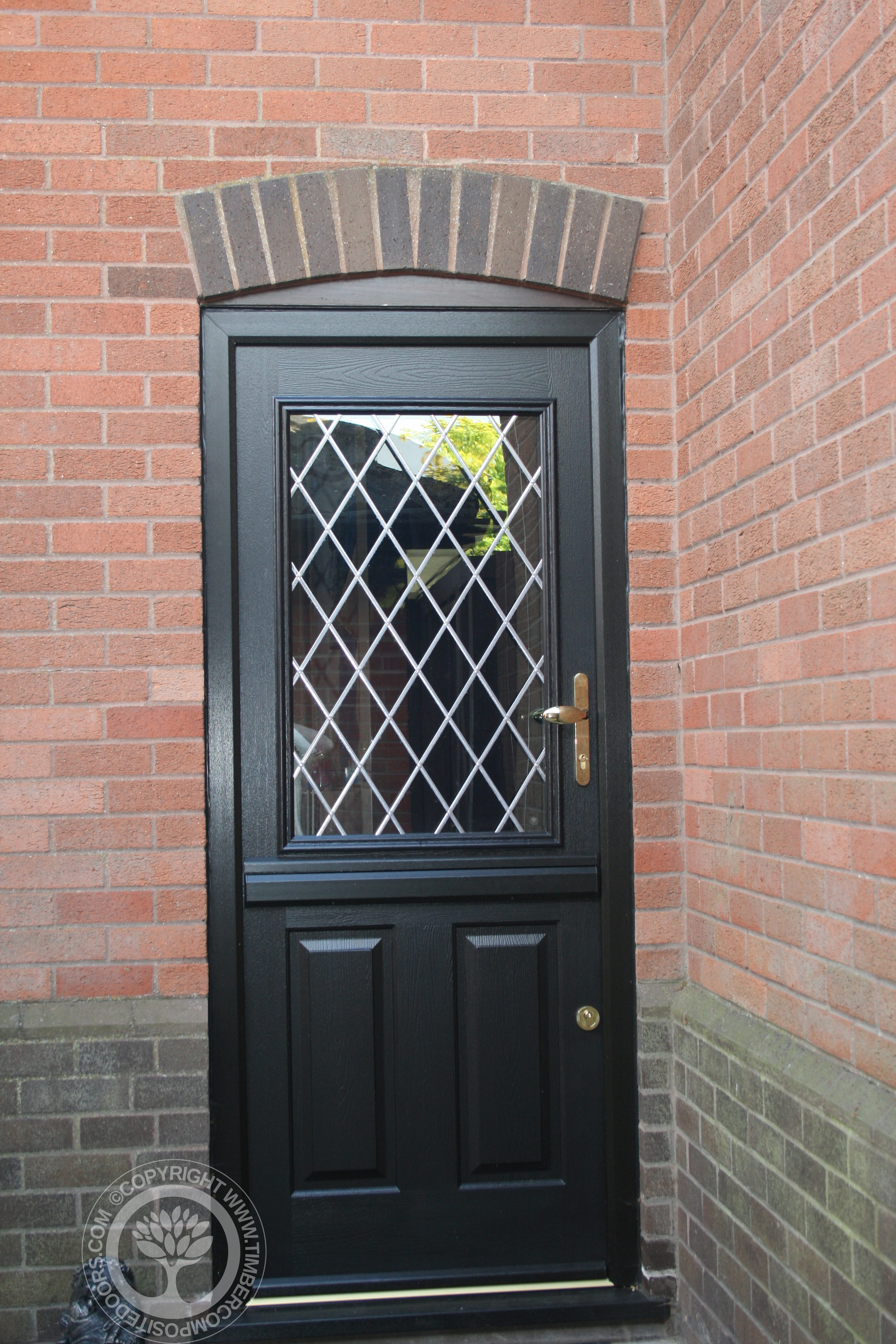 Solidor Beeston Composite Stable Door In Black Timber