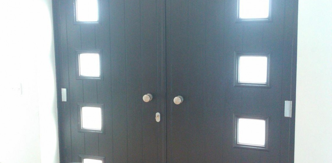 Black Milano Solidor French Doors Internal