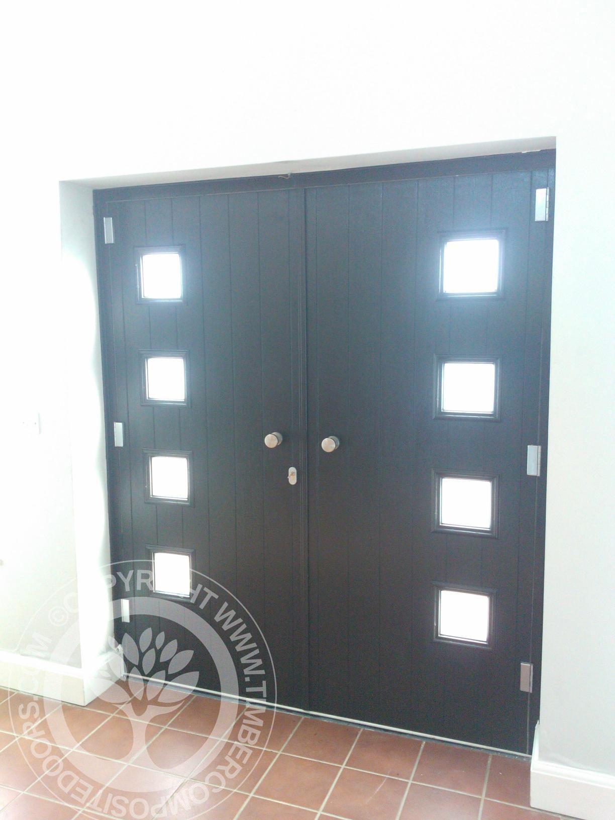 Black Milano Solidor French Doors Internal