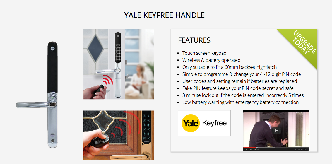 Solidor Yale Composite Door - Keyfree