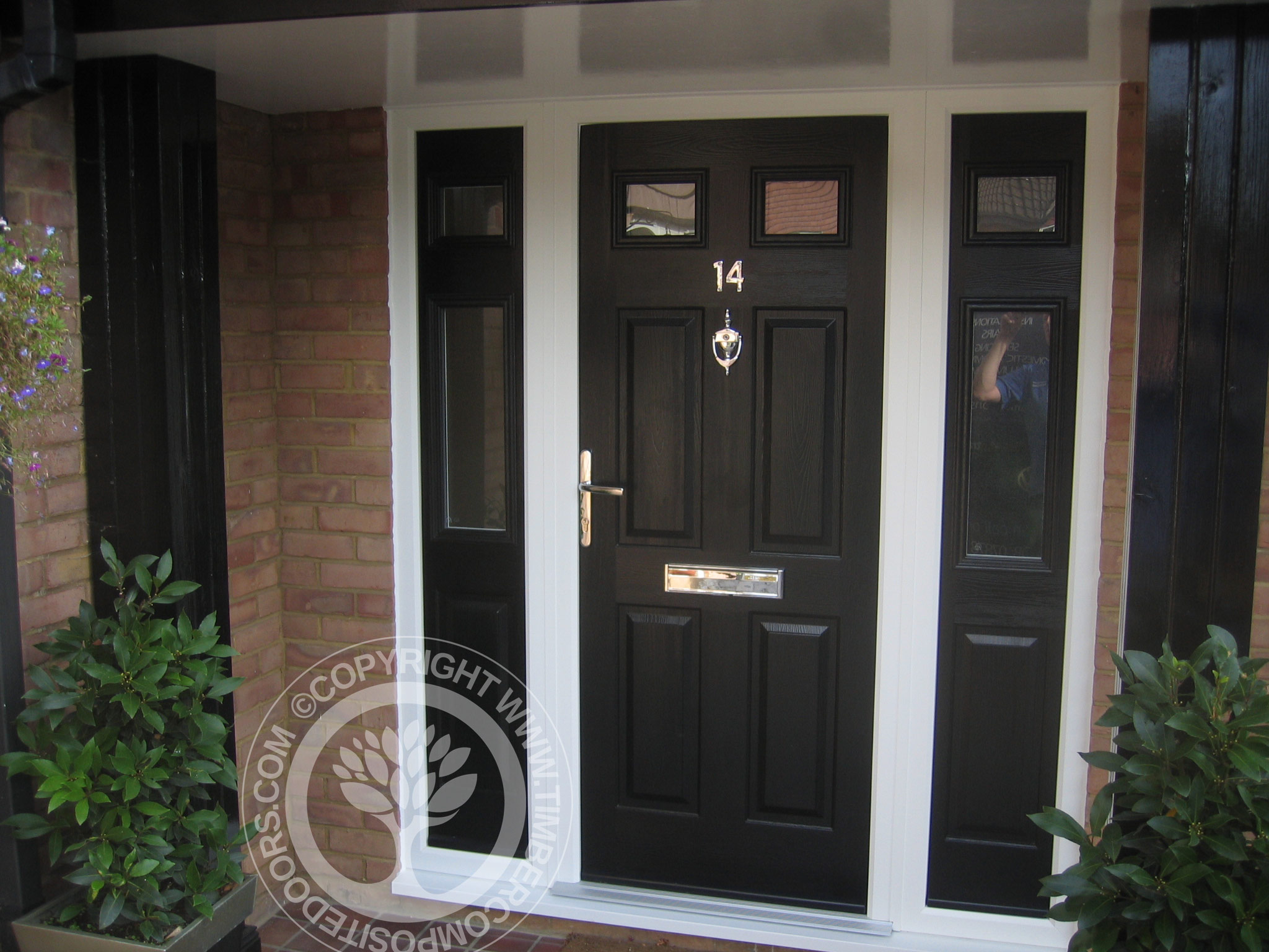Black Solidor Tenby Composite Door Timber Composite