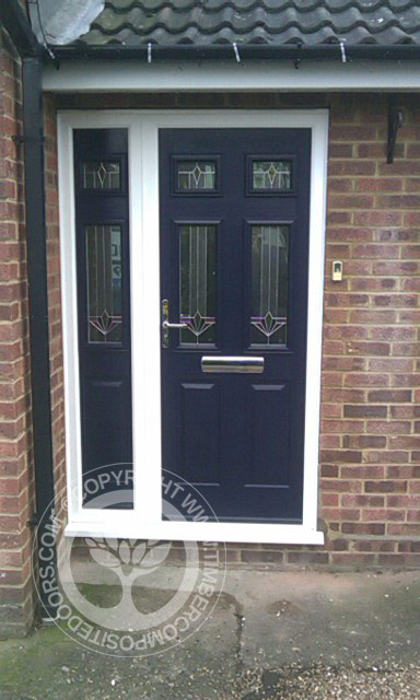 Blue Tenby Solidor Timber Composite Door Timber