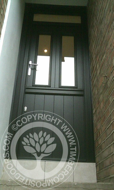Black Solidor Composite Stable Door Timber Composite