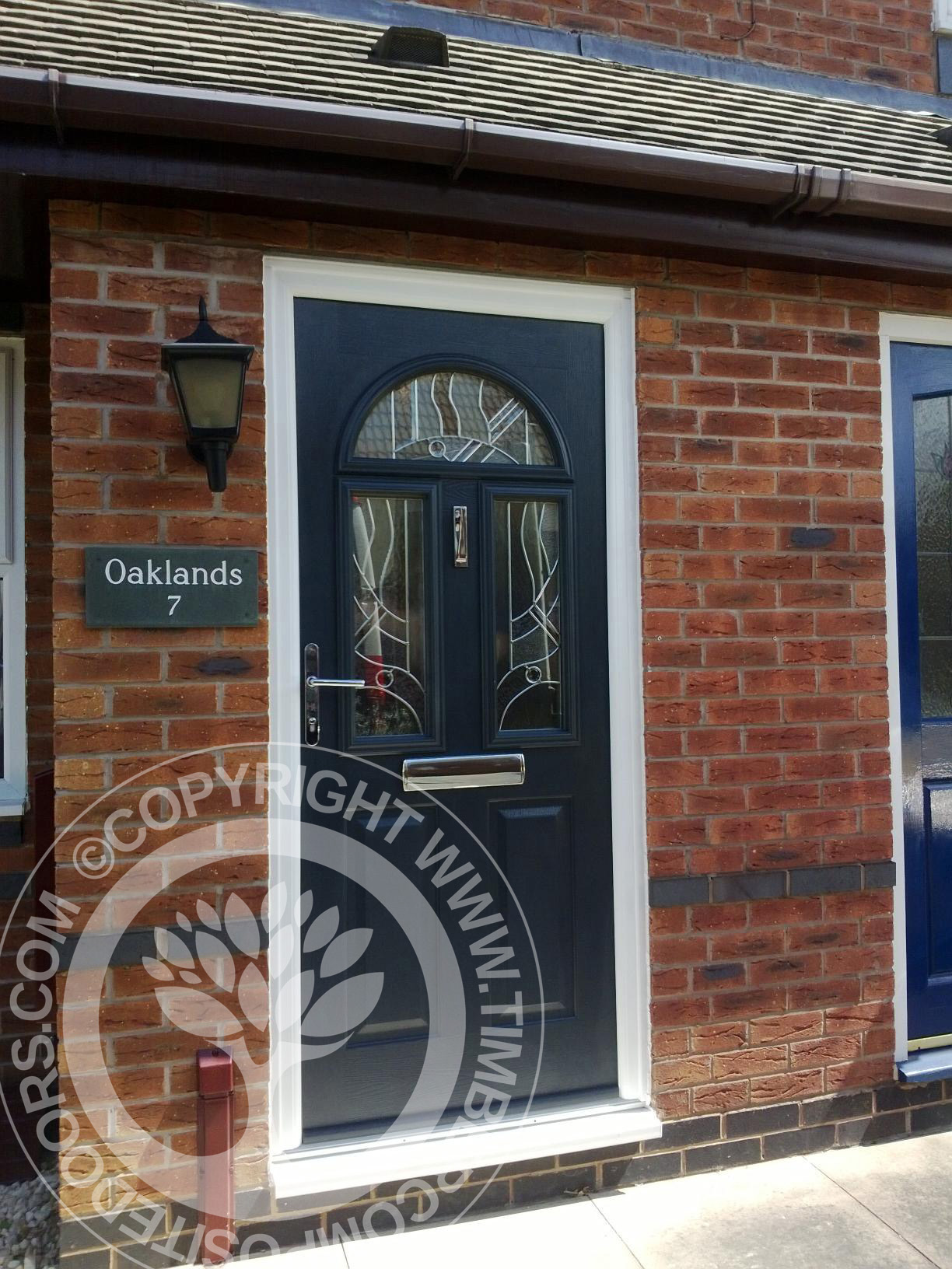 Conway Solidor Composite Door by Timber Composite Doors in Blue