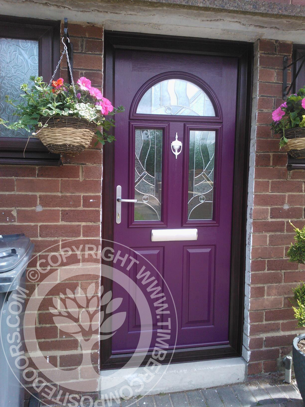 solidor conway composite door in aubergine timber