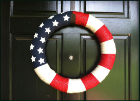 wreath 4th July