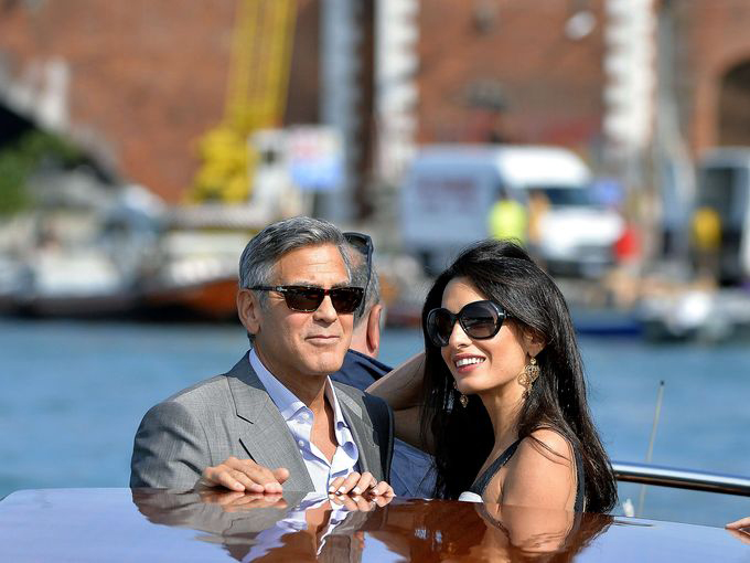 George Clooney aims to fit a Venice Solidor