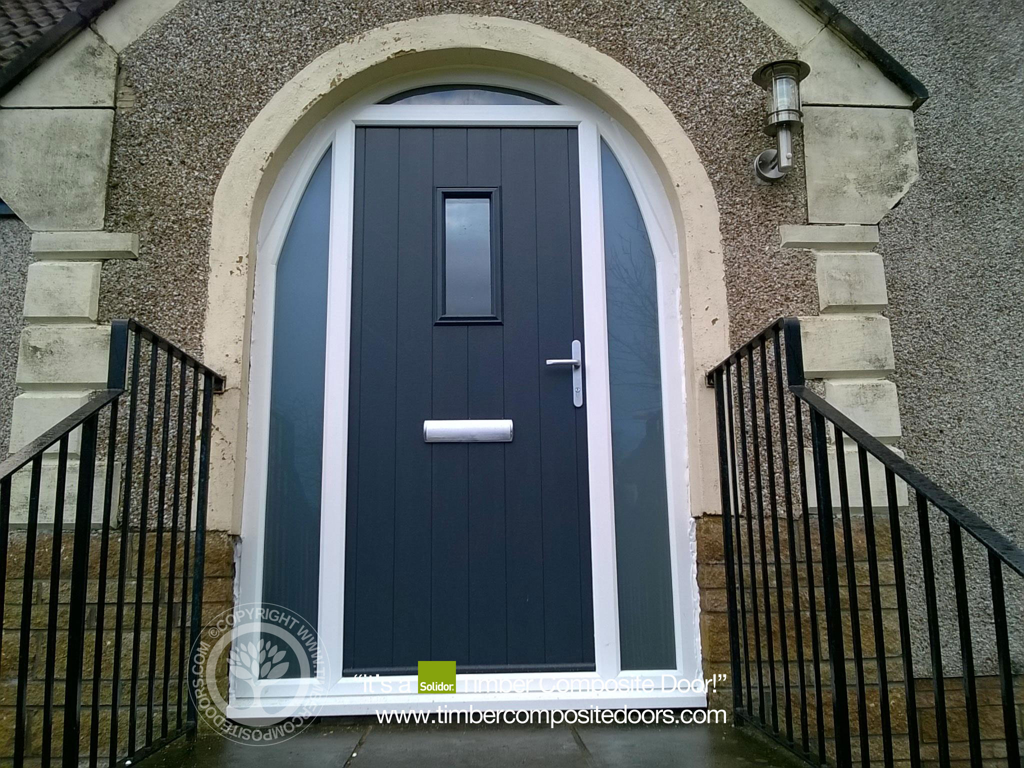 Solidor Flint Arched Composite Door Timber Composite