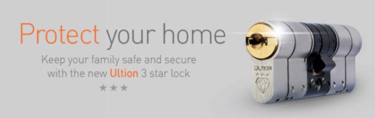 Ultion 3 Star Diamond Sold Secure Lock