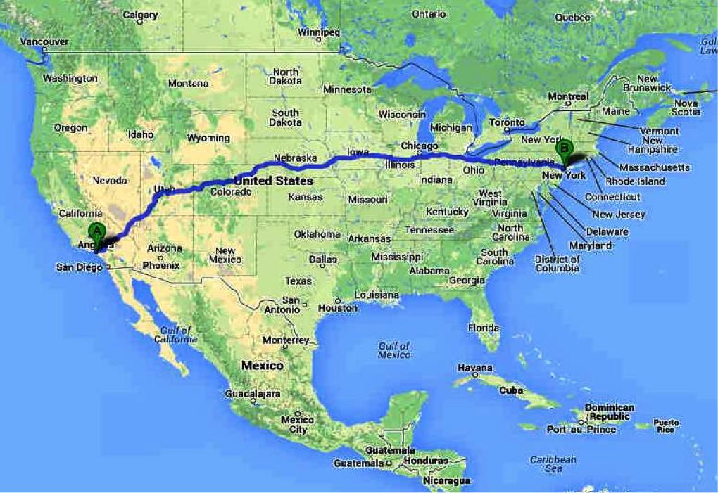 Tesla New York to LA