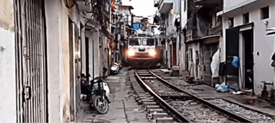 Vietnam railway street