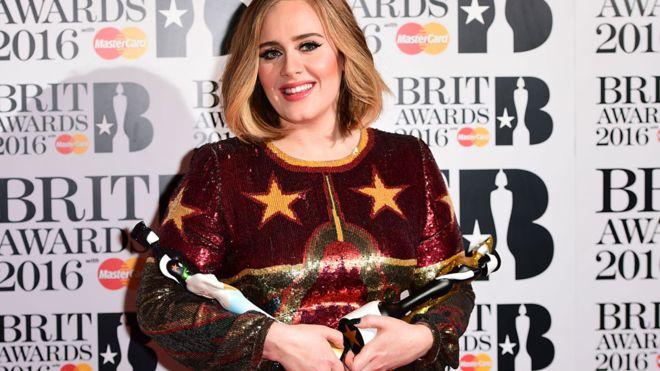 Brit 2016 Winner Adele