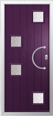 Solidor Modena Timber Composite Door in Rich Aubergine