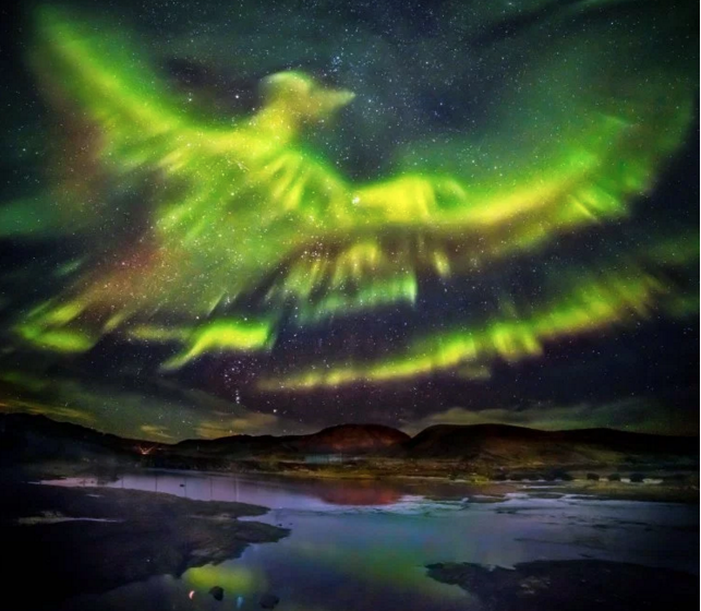 Phoenix Rising Northern Lights Iceland