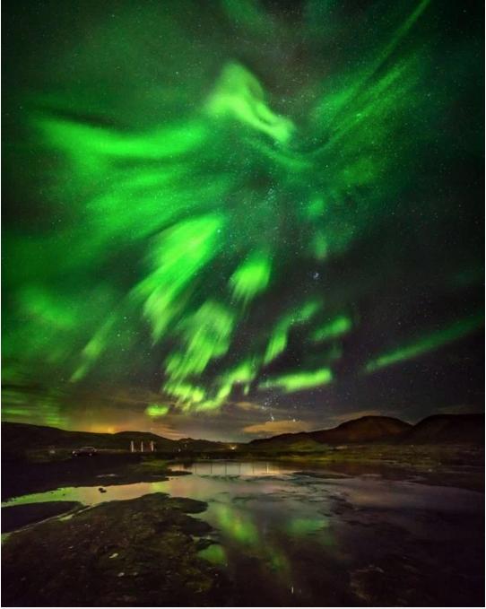 Phoenix Rising Northern Lights Iceland