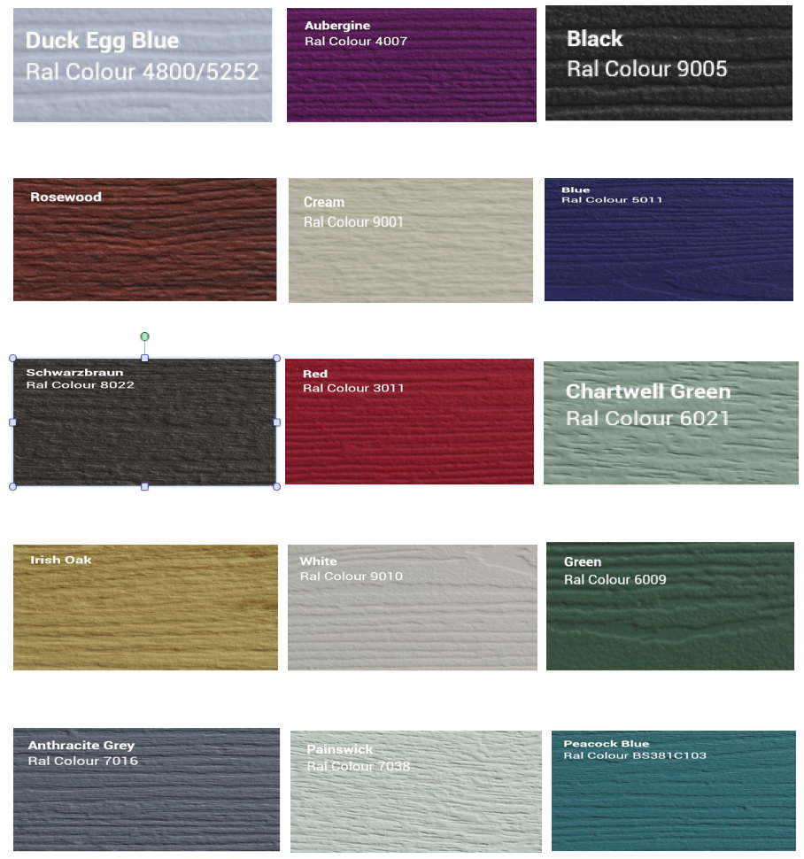 Standard Solidor Colours